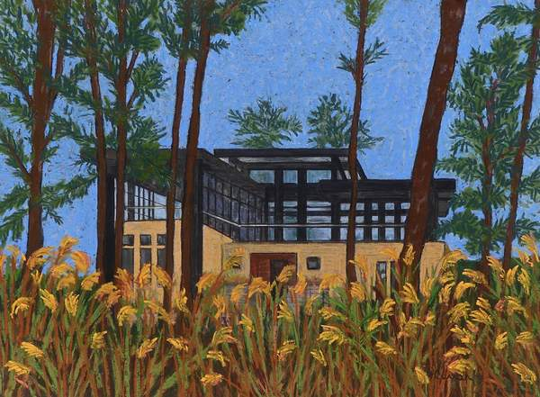 """The Phillips Home,"" pastel by Andi Curran"